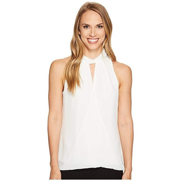 Calvin Klein Women's Sleeveless Wrap Halter Top Sz: XS
