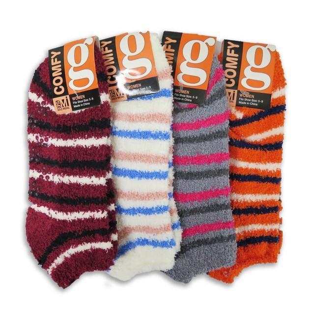 8 Pairs Cozy Fuzzy Winter Women Socks,Gripper Slippers Socks