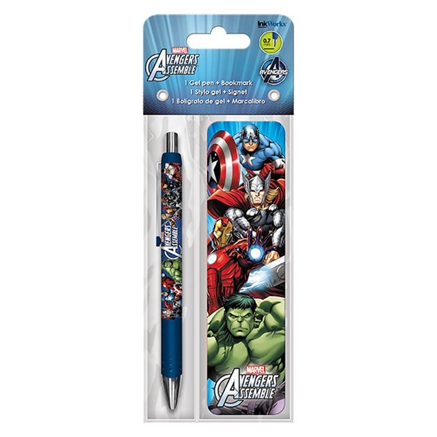 Avengers Assemble Gel Pen and Bookmark Pack