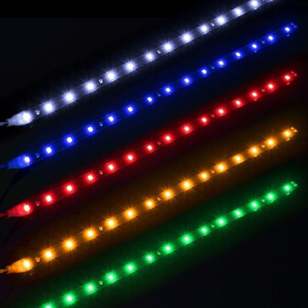 2 Pcs Car Auto Decoration Waterproof LED Flexible Strips Eyebrow Lights@0