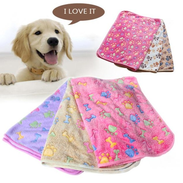 Paw Print Pet Blanket - 3 Colors