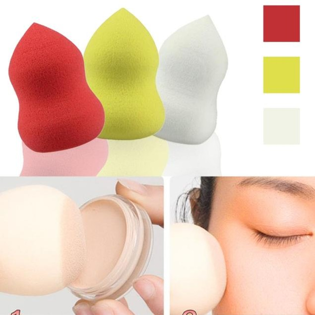 2PCS Gourd-Shaped Three-Dimensional Latex Powder Puff Makeup Beauty Tools