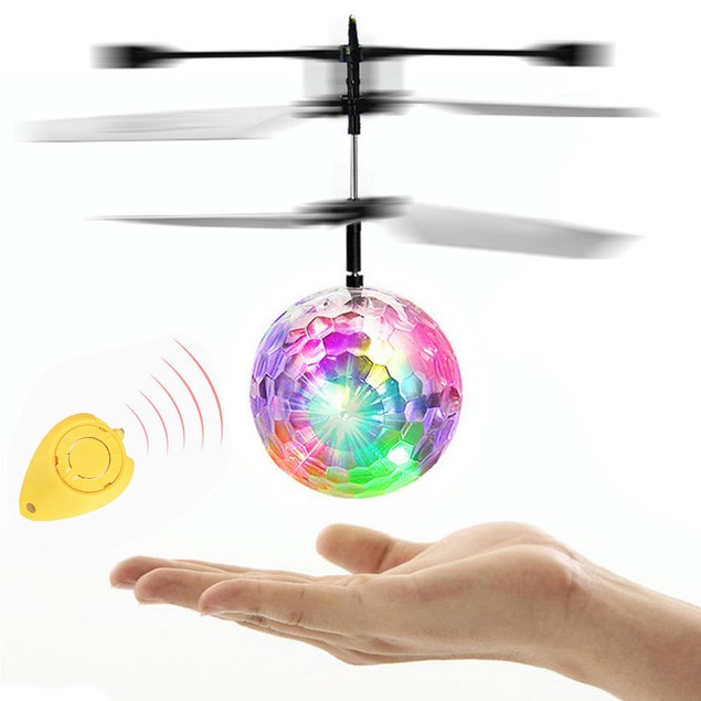Flying RC Electric LED Flashing Light Aircraft Helicopter Induction Toy