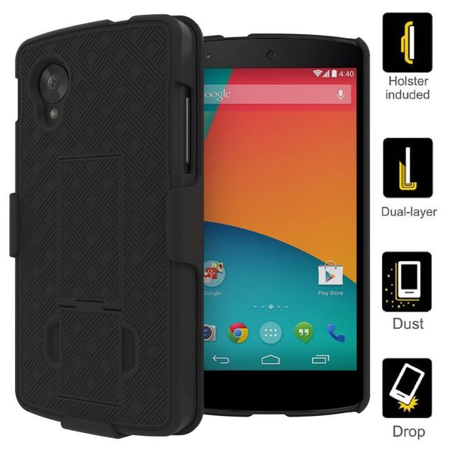 Stalion Secure Belt Clip Holster & Case w Kickstand for LG Google Nexus 5