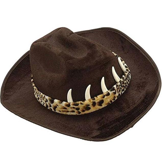 Black Cowboy Hat With Teeth
