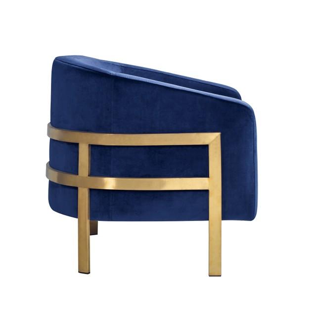 Chic Home Sebastian Steel Frame Velvet Bucket Club Chair