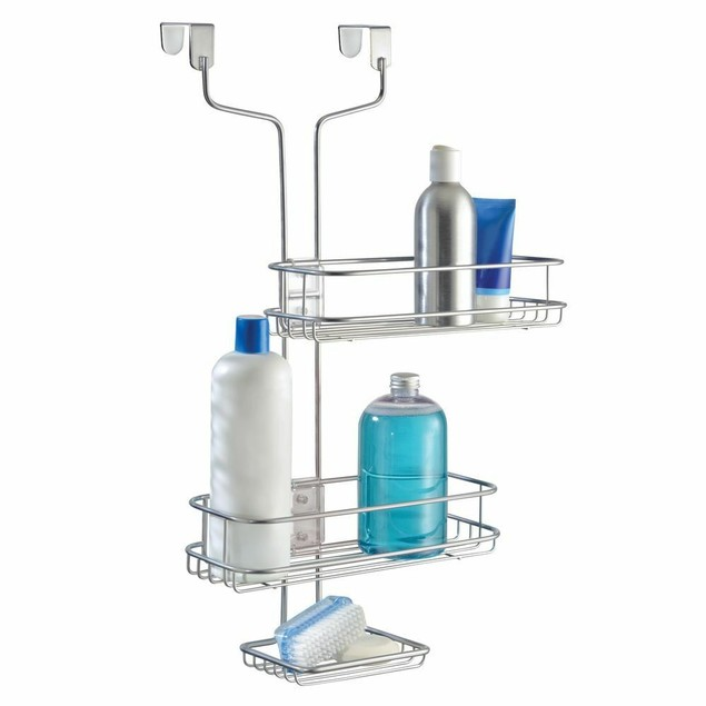 Design Linea Adjustable Bathroom Over Door Shower Caddy - Silver