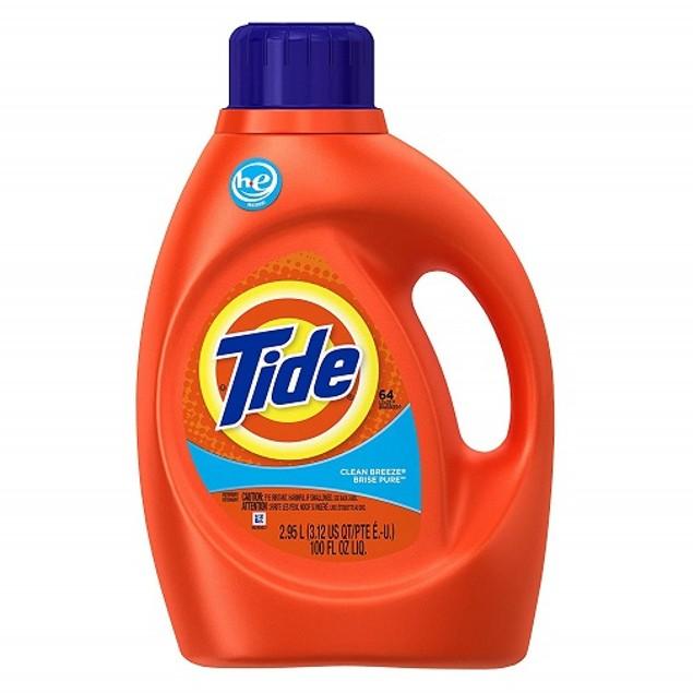 Tide Clean Breeze HE Liquid Laundry Detergent 100 oz