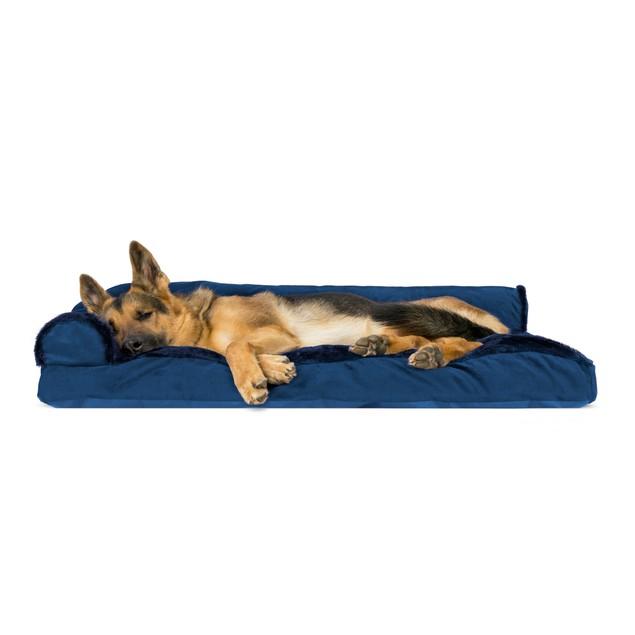 FurHaven Plush & Velvet Deluxe Chaise Lounge Pillow Sofa Pet Bed