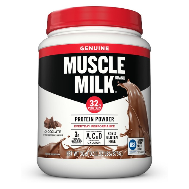 Muscle Milk 32g Protein Powder Everyday Performance, 30.9 Oz., Chocolate