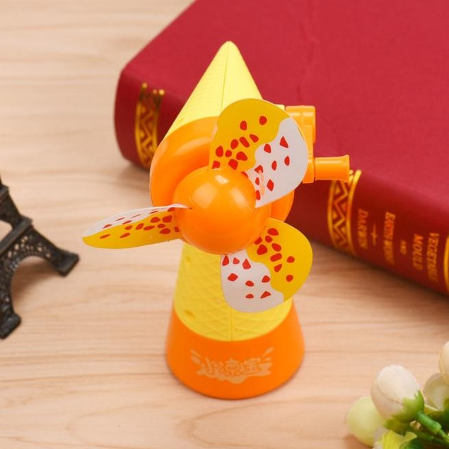 Portable Kid Manual Hand Mini Fan Handheld No Battery Operated for Cooling