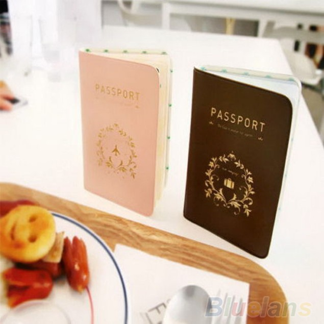 Travel Utility Simple Passport ID Card Cover Holder Case Protector