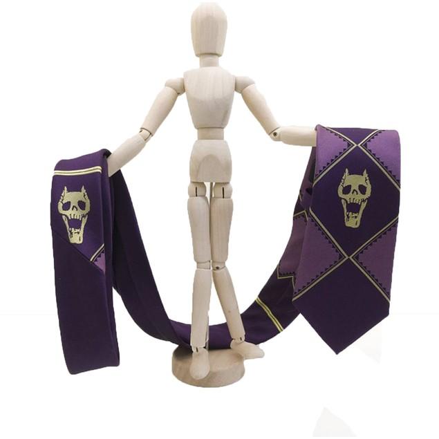 Killer Queen Skulls Purple Polyester Necktie