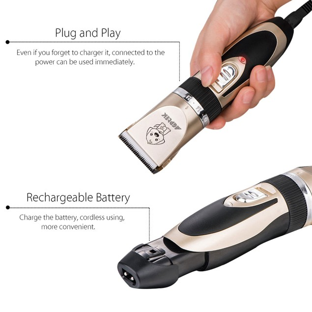 Pet Clipper Grooming Trimmer Animal Hair Professional Electric Shaver Kit