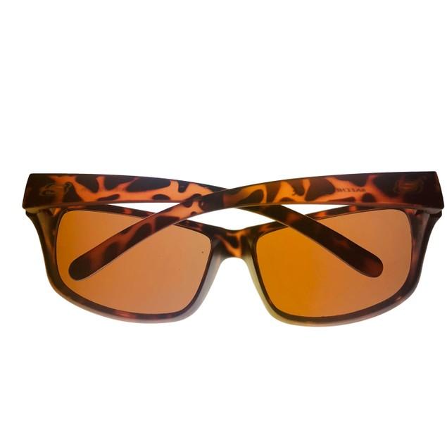 Skechers Mens Sunglass Dark Havana Rectangle Wrap Plastic, SE8022. 52E