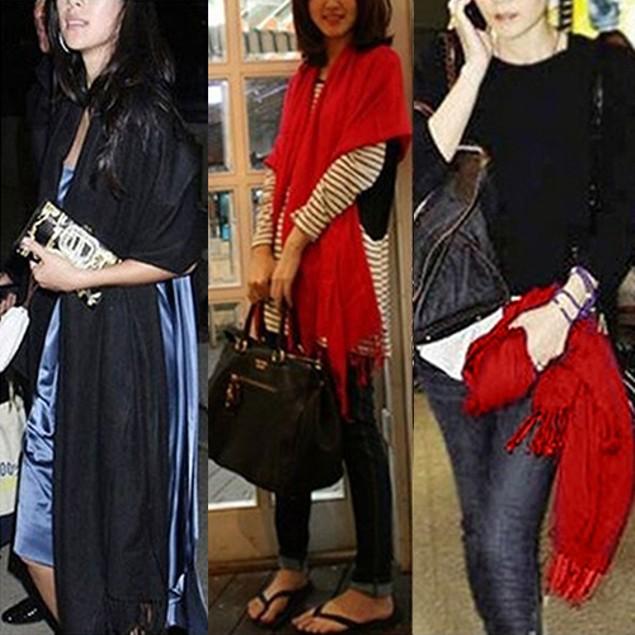 Women's Fashion Pure Color Imitated Cashmere Pashmina Scarf