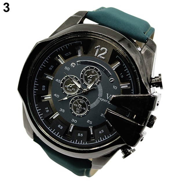 Men's Stainless Steel Quartz Watch - Assorted Colors
