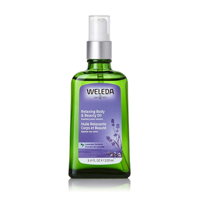 Weleda Relaxing Lavender Body and Beauty Oil, Improves Skin Hydration, 3.4
