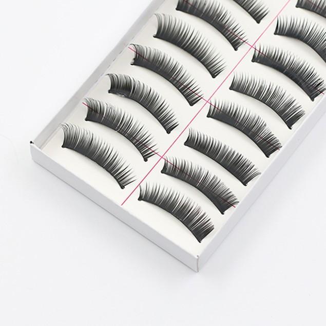10 Pairs Makeup Handmade Natural Thick False Eyelashes Long Eye Lashes
