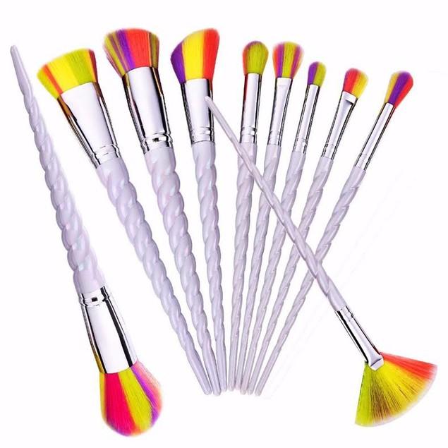 Unicorn Spiral Makeup Brush Set