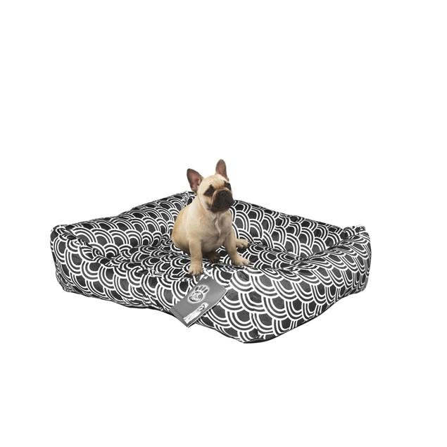 Zummy Quiet Time Pet Dog Aztec Style Low Bumper Bed