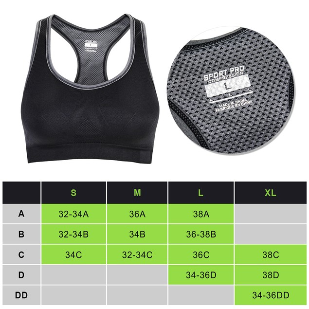 Odoland Women Racer back Sports Bras High Impact Workout Gym Activewear Bra
