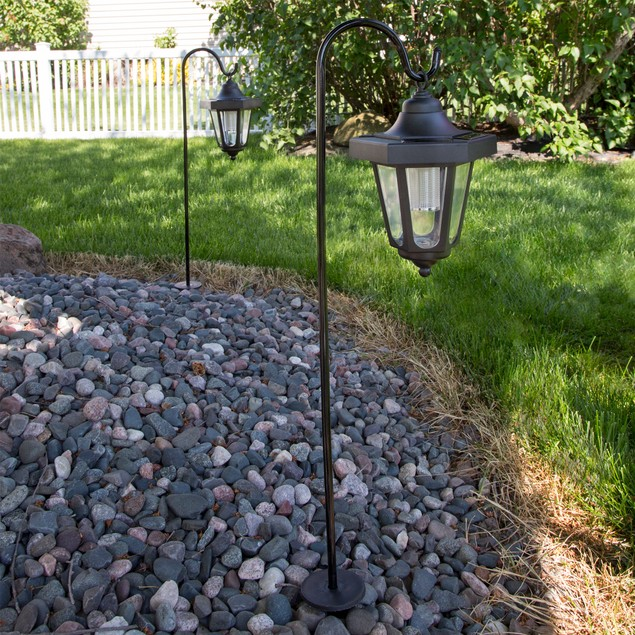 Pure Garden Solar LED Hanging Coach Lanterns - Set of 2