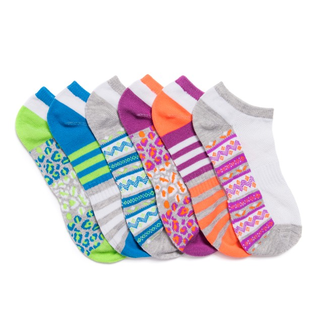 MUK LUKS® Women's 6 Pair Pack No Show Compression Arch Socks