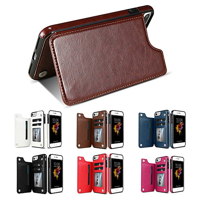 Slim Fit Faux Leather Wallet Case for iPhone 6,7,8, X, Xs, Xs Max and Xr
