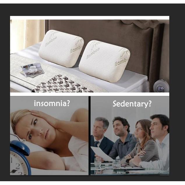 VECELO Bamboo Memory Foam Bed Pillow Hypoallergenic Cool Comfort