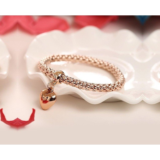 Novadab Love Charm Heart-Throbbing Hanging-Watch Cum Bracelet
