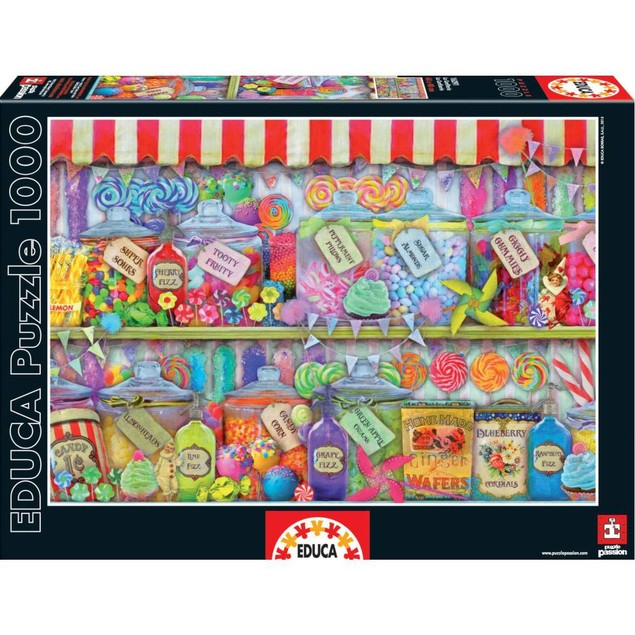 Candy Shop 1000 Piece Puzzle, Dessert by John N. Hansen