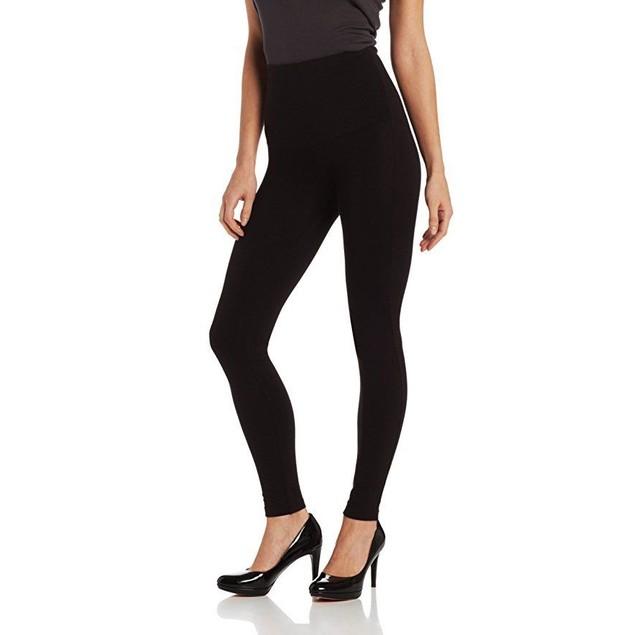 Hue Women's Ultra Tummy Shaping Legging, Black, SZ:  Small