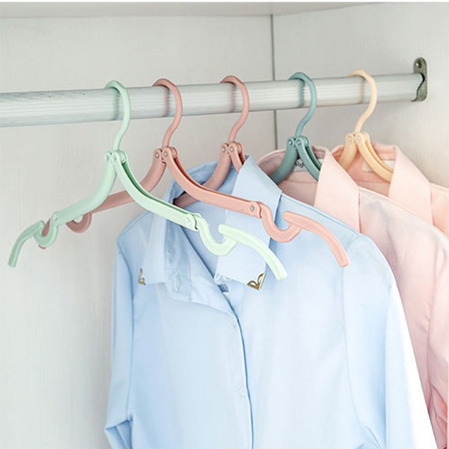 6 Pack Folding Portable Outdoor Non-slip Clothes Hangers