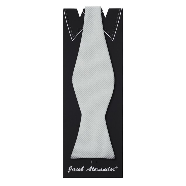 Jacob Alexander Men's Tone on Tone Corded Self-Tie Bow Tie