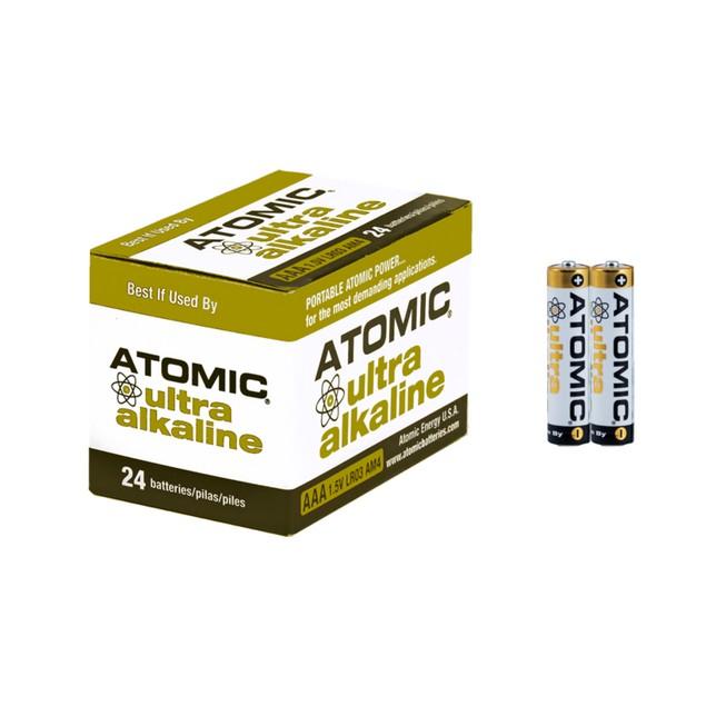 Atomic Ultra Alkaline AAA LR03 AM4 1.5V Batteries (24 Batteries)