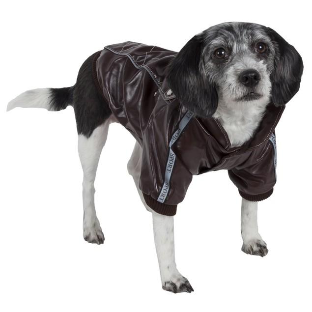 Wuff-Rider Fashion Suede Stitched Pet Coat