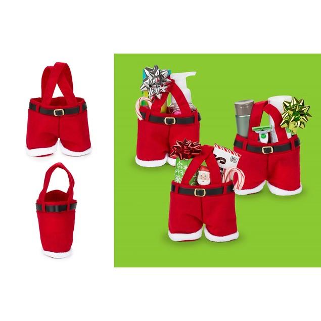 6-Pack Santa Pants Holiday Gift Bags