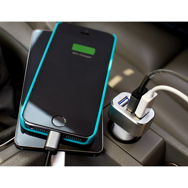 3-Port Universal USB Car Charger