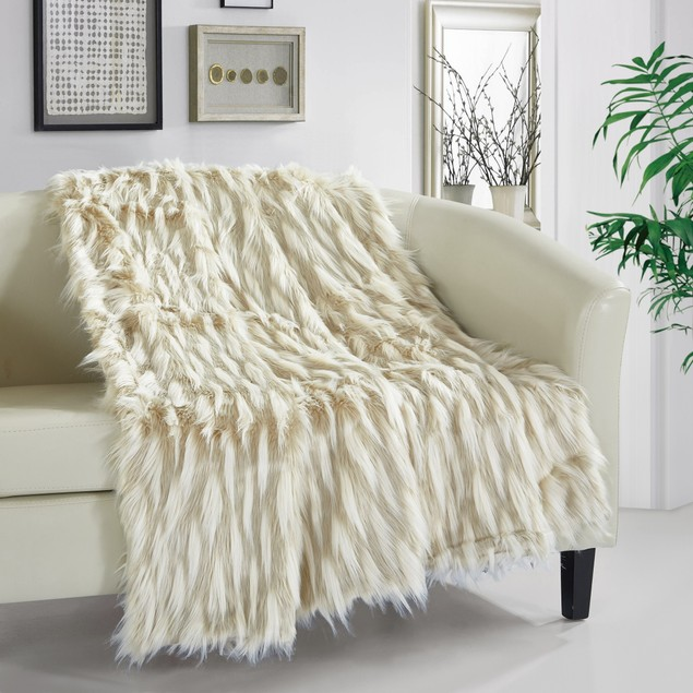 Chic Home Monica New Faux Fur Collection Throw Blanket