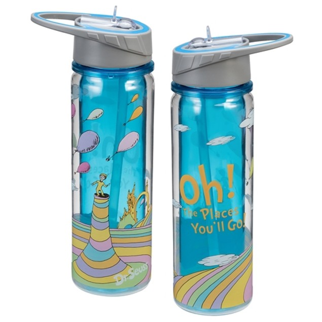 Dr. Seuss Oh The Places You'll Go Tritan Water Bottle 18 oz. Graduation