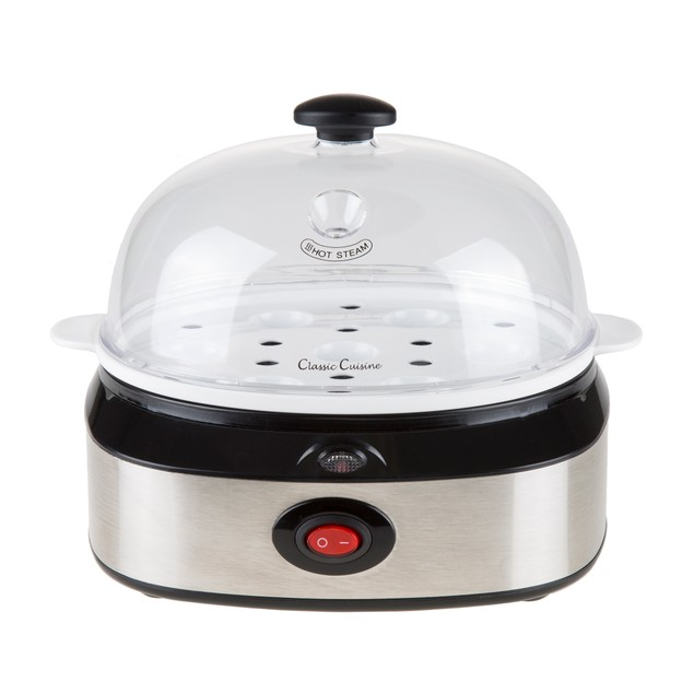 Classic Cuisine Multi-Function Electric Egg Cooker 7 Egg Capacity