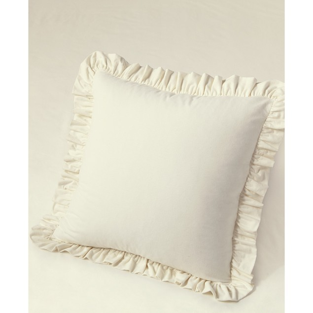 "Martha Stewart Collection Soft Portuguese Flannel Ruffle Euro Sham, 29"","