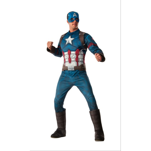Muscle Chest Deluxe Captain America Costume - Std