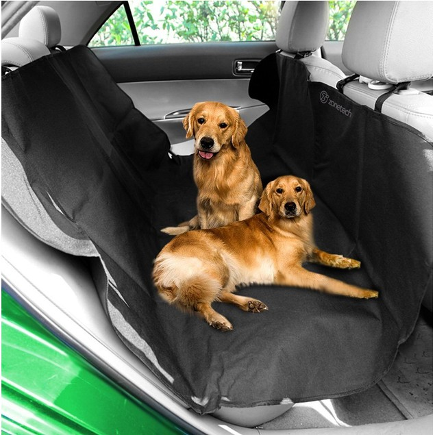Zone Tech Black Auto Pet Hammock Dog Vehicle Seat Protector
