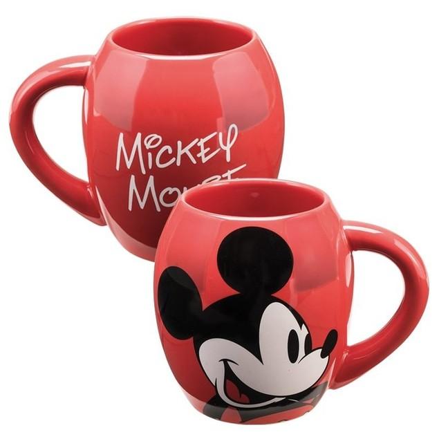 Disney Mickey Mouse 18 oz. Oval Ceramic Mug Cartoon Red Minnie