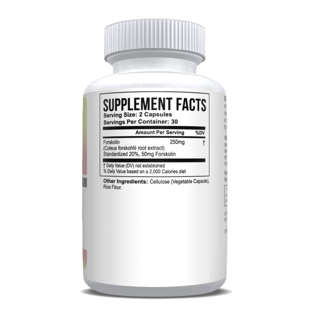 Pure Forskolin Extract 20% Standardized Max Strength - 6 Month Supply