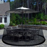 Deals on Pure Garden Outdoor Umbrella Screen