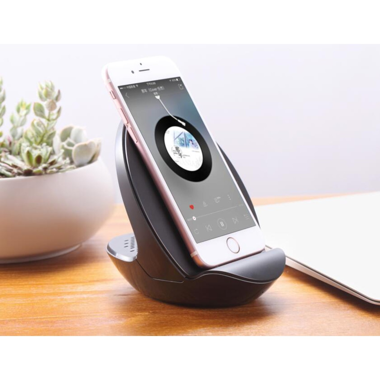 Wireless Charging Smartphone Dock With Built In Bluetooth Speaker Tanga