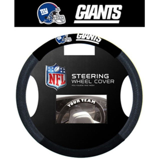 New York Giants Steering Wheel Cover NFL Football Team Logo Poly Mesh